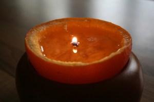 orangenschalenteelicht